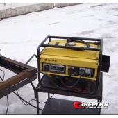 Демонстрация сварочного инверторного аппарата ПДГУ - 180 от бензинового генератора 2,5 кВ