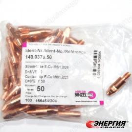 140.0379 Наконечник токопроводящий сварочный E-Cu - М6х1,2х28 Abicor Binzel