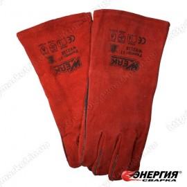 Перчатка крага Красная длинная